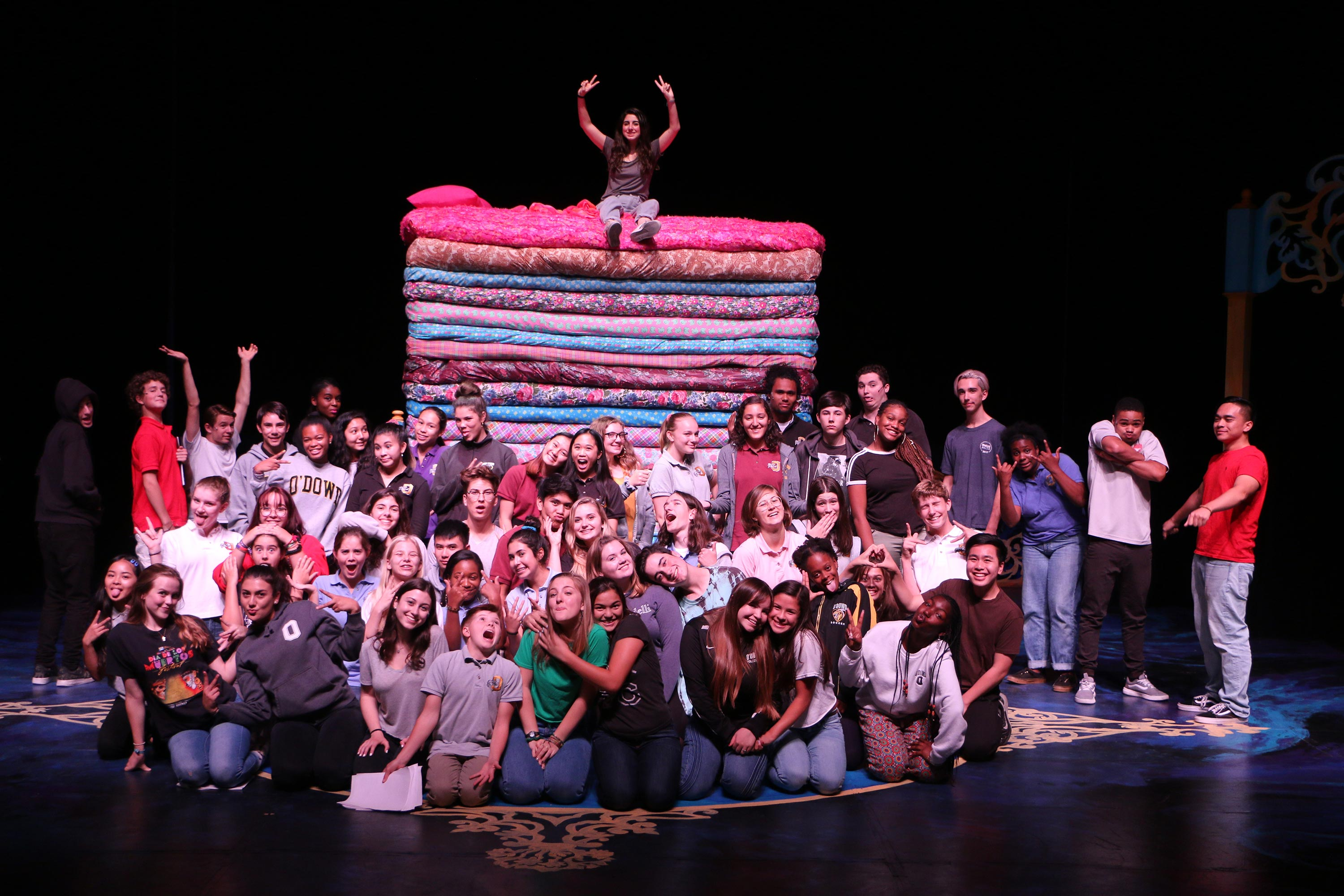 Once Upon A Mattress Has A Cast And Crew Bishop O Dowd High School